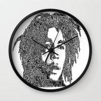marley Wall Clocks featuring Marley by Travis Poston