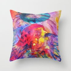 psychedelic angel corpes Throw Pillow