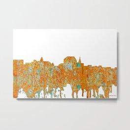 Augusta, Maine Skyline - Rust Metal Print