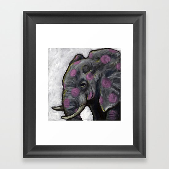 Spotted Elephant Framed Art Print