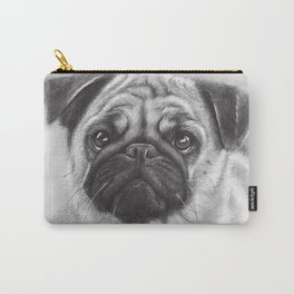 Cute Pug Dog Animal Pugs Portrait Carry-All Pouch