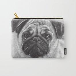 Cute Pug Dog Animal Pugs Portrait Carry-All Pouch
