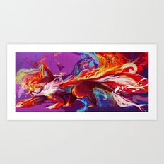 Tailspin Art Print