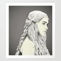 daenerys Art Prints featuring D T by CranioDsgn