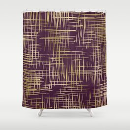 Crosshatch Plum Shower Curtain