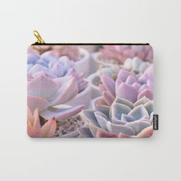 PASTEL SUCCULENTS Carry-All Pouch