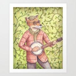 Play us a song Mr. Fox Art Print