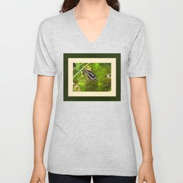 Butterfly in Garden Unisex V-Neck