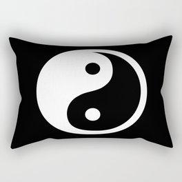 Yin Yang Black White Rectangular Pillow