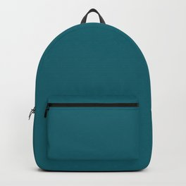 Clear Day Ocean Blue Solid Colour Palette Matte Backpack