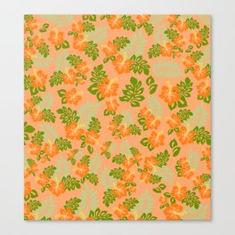 Hawaiian Pattern - Orange Canvas Print
