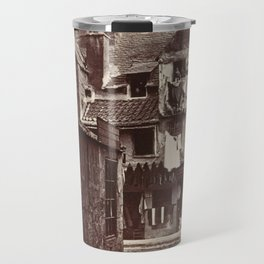 Archibald Burns - 'Timber Fronted House, Cowgate', Edinburgh (1880) Travel Mug