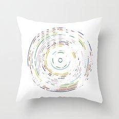Rainbow Record Throw Pillow
