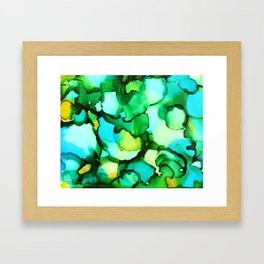 Blue & Green - should be seen Framed Art Print