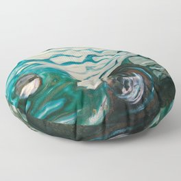 Green Flame Hotrod Floor Pillow