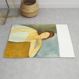 """Amedeo Modigliani """"Jeanne Hebuterne"""" Rug"""