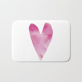 Watercolour heart Bath Mat