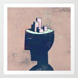 cityhead Art Print