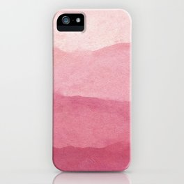 Ombre Waves in Pink iPhone Case