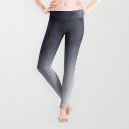 Grey Watercolor Tie-dye Leggings