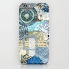 blue collage iPhone 6 Slim Case
