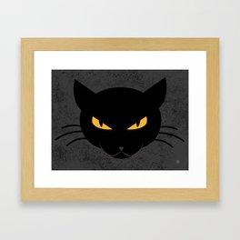 Evil Kitty Framed Art Print