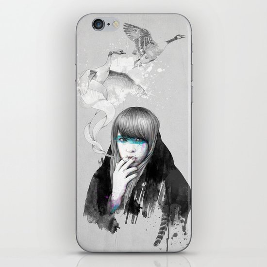 Swan Love iPhone & iPod Skin