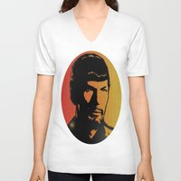 spock V-neck T-shirts featuring Spock by SVA🌺