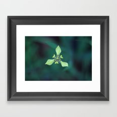 Triangle Flower Framed Art Print