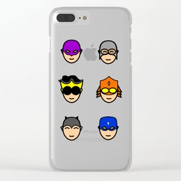 Teen Superhero Faces Clear iPhone Case