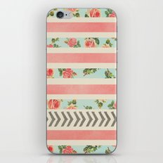 FLORAL STRIPES AND ARROWS iPhone & iPod Skin