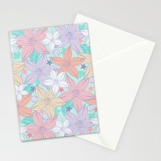 Dancing Spring flowers Stationery Cards