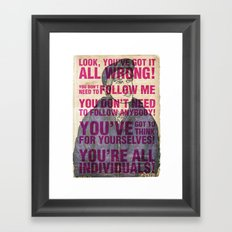 Individuals Framed Art Print