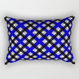 Combo black blue plaid Rectangular Pillow