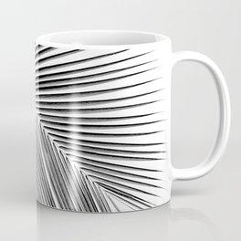 Palm leaf - bw Coffee Mug