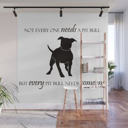 Love is a pit bull No. 8 Wall Mural