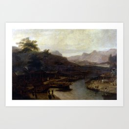 William Daniell View in China Cultivating Tea Art Print