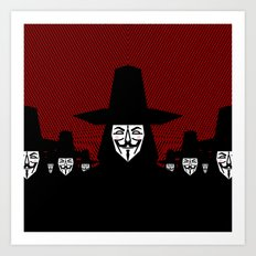 Million Mask March Art Print