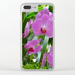 Pink moth orchids Clear iPhone Case