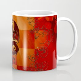 Awesome dragon with floral elements Coffee Mug