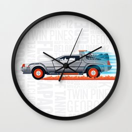 Great Scott! Back to the Future Delorean Print Wall Clock