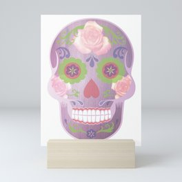Purple Sugar Skull Mini Art Print
