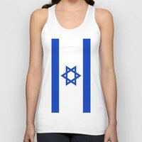 israel Tank Tops featuring Flag of Israel by Neville Hawkins