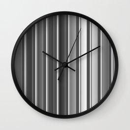 Aluminum silver stripe texture Wall Clock