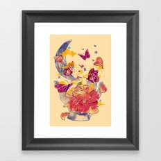 Papillon Ache Framed Art Print