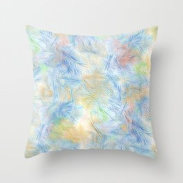 Tangled Blue Fireworks Throw Pillow