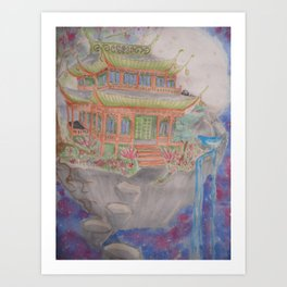Floating palace Art Print