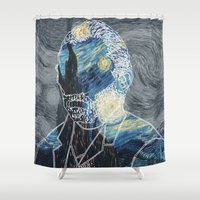 van gogh Shower Curtains featuring Van Gogh by NotNorrah