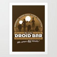 Droid Bar Art Print