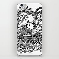 rooster iPhone & iPod Skins featuring Rooster by Sheila Rayyan
